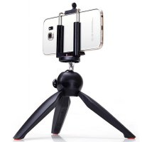 Yunteng Portable Mini Tripod Panoramic Rotation - 228 (OEM) - Black
