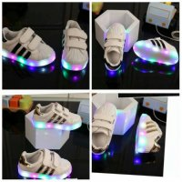 Sepatu led anak adidas garis / Led Shoes adidas yeezy s