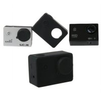 Soft Rubber Silicone Case with Lens Cap for SJ4000Wifi SJ4000+ - Black