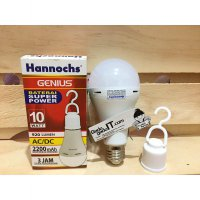 Lampu Emergency LED Bulb AC/DC Hannochs Genius 10Watt (RECHARGEABLE)