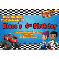 Smiley kids Kartu Undangan Ulang Tahun / Invitation Card Blaze - 01
