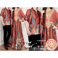 Gamis Couple (Batik Couple, Baju Muslim Couple, Batik Kapel) AK38