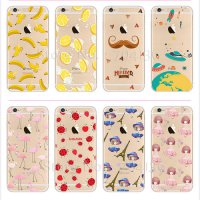 [globalbuy] Mobile Phone Case For iPhone 7 Plus 6 6s Plus 5 5s Transparent Ultra-Thin Sili/4069106