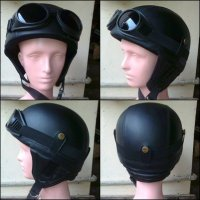 (Half Face) Helm Retro Vespa Clasic Model Kupingan Hitam/ helm vespa