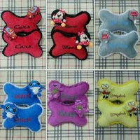 Set Bantal Sandaran Headrest Kepala Jok Mobil Boneka The Cars Minnie Mini Stitch Barney Bear Beruang