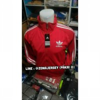 Jaket Bola Adidas Classic Red Trackers