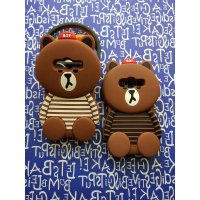 Case 4D brown Bear SAMSUNG GALAXY J1 ACE /Karakter/Soft/Silikon/3D/Rubber