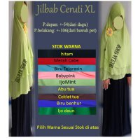Jilbab Ceruti Layer Pet / XL |SERAYUKOSMETIK|