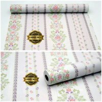 Wallpaper Sticker Dinding Motif Bunga Bergaris Termurah09