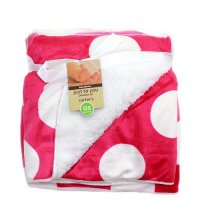 Selimut Bayi Just To You Double Fleece Big Polka Red