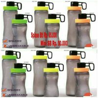 Splash Bottle plus Mini Splash Bottle PROMO Paket Hemat Twin Tulipware