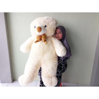 Boneka Teddy Bear Jumbo Cream SNI 120CM