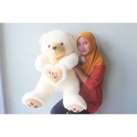 Boneka Teddy Bear Besar I Love You Cream SNI 80CM