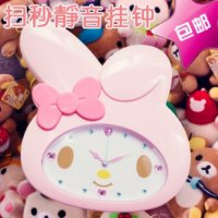 Jam Dinding Unik Big Head My Melody Hello Kitty Kucing Import