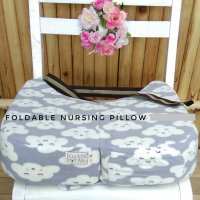Cuddle Me Bantal Menyusui Foldable Nursing Pillow Cloud Grey