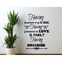 Wall Sticker Quotes Having Home Family Stiker Dekorasi Dinding Rumah Termurah09
