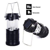 Solar Rechargeable Camping Lantern,Unigear Collapsible Portable LED Camp Light Flashlight Lamp