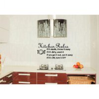 Wall Sticker Quotes Kitchen Rules Stiker Dekorasi Dinding Dapur Rumah Termurah09