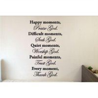 Wall Sticker Quotes God In Every Moment Stiker Dekorasi Dinding Rumah Termurah09
