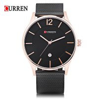 CURREN 8231 Business Ultra-thin Dial Quartz Watch with Simple Nail Scale for Men