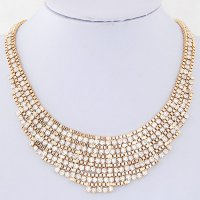 RKL7297 - Aksesoris Kalung Metal Collar Diamond