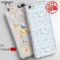 [globalbuy] Vpower for apple ipod touch 6 3d pc cartoon Case Original Case Cover for ipod /3268497