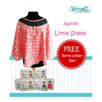 Apron Menyusui Jaring Vitorio Little Sheep + Bantal Peyang Lengan Celemek Nursing