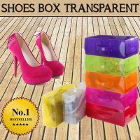 5 PC KOTAK SEPATU TRANSPARAN COLOR / WARNA | shoes box | SHOE