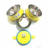 Lunch Box Despicable Me / Rantang 3 Susun Kotak Makan Stainless Bekal