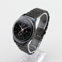 3 Pointer Strap / Band for Samsung Gear S2 Classic / Moto 360 2nd gen 42mm Black Metal Strap