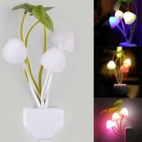 Mini Mushroom LED Light Sense Control Led Night Wall Lamp