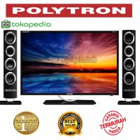 Led Polytron 32 inch PLD32T106 Bluetooth Speaker Tower CinemaX