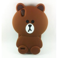Case 3D Silicon Boneka Kartun Teddy Brown Line Softcase Casing for Oppo F1 Plus or R9