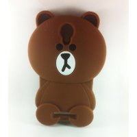 Case 3D Silicon Boneka Kartun Teddy Brown Line Softcase Casing for Xiaomi Redmi Note 3