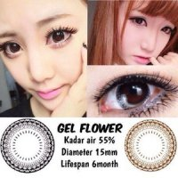 Softlens Gel Flower / Soft Lens Gel Flower DIA 14.8 MADE IN KOREA