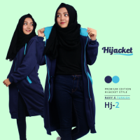 Hijab Jacket Hijacket HJ2 Navi Turkish Premium Fleece