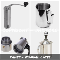 Paket 4 (Latte Tools) | Grinder, Moka Pot, Milk Frother