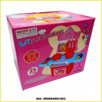 LITTLE COOKING KITCHEN SET 8688A - KADO MAINAN EDUKASI MASAK MASAKAN