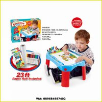 MY FUN CREATIVE TABLE BLUE - MEJA BELAJAR ANAK EDUKASI
