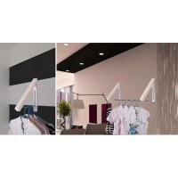 Gantungan baju lipat wall hanger folding hidden clothes drying rack 2p