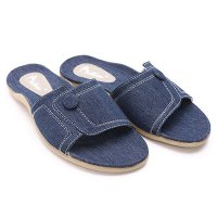 Dr.Kevin Womens Canvas Sandals 27285 Blue