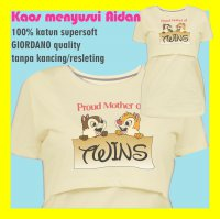 Baju/Kaos Menyusui AIdan: Proud Mother Of Twins