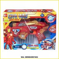 Mainan Pistol Soft Bullet Blaster Super Gun Super Hero Iron Man