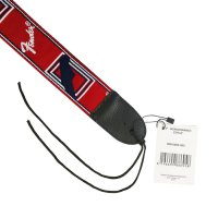 Strap Gitar Fender BONUS Pick Monogram Red Blue White T