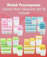 Toples Plastik Calista Otaru 14pcs - Food Container - w Murah