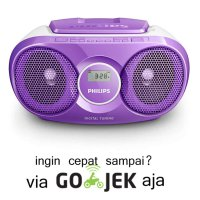 PHILIPS AZ215-Sound Machine Pemutar CD/FM RADIO Model Terbaru-Ungu