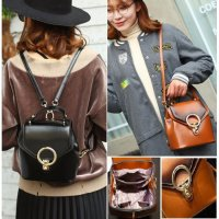 Tas Ransel Casual Wanita Fashion Korean Bags Import Kulit Tebal Brands