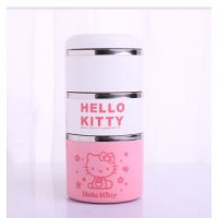 Lunch Box / Rantang Hello Kitty 3 Susun Stainless Pink