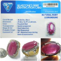 Cincin Batu Permata Natural Ruby Top Crystal Big Size Jumbo + Memo 02