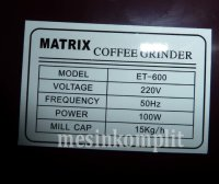 Electric Coffee Grinder Giling Kopi